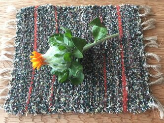 kazenoneko【風の猫】の裂織手織りコースター(残1色)の画像