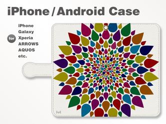 iPhone7/7Plus/Android全機種対応 スマホケース 手帳型 北欧-春-花-フラワー シック 38_03の画像