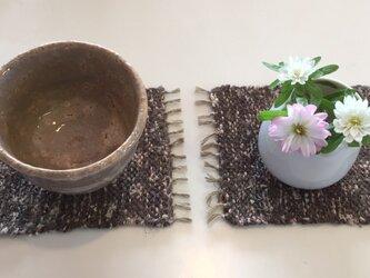 kazenoneko【風の猫】の裂織手織りコースターの画像