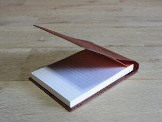 ロウ引き和紙のメモケース(柿渋染)の画像