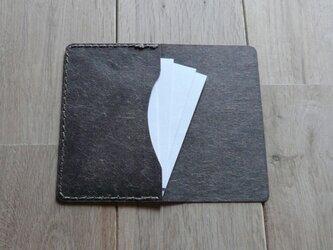 ロウ引き和紙のカードケース (ログウッド)の画像