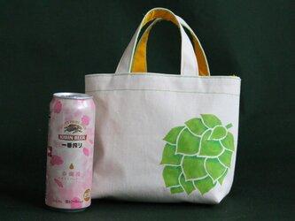 ビールとお散歩バッグの画像