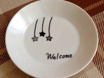 お皿アート【welcome】の画像