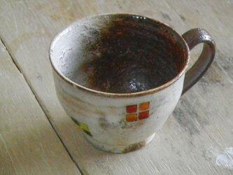 百色(ももいろ)象嵌 マグカップ(丸)四角紋の画像
