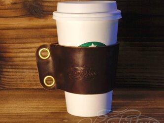 レザーカップスリーブ L  -ダークブラウンの画像