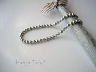 貝パール☆シルバーグレーのネックレスの画像