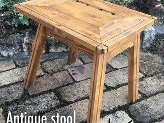 スツール  (アンティーク調 小物入れ付 椅子 )の画像