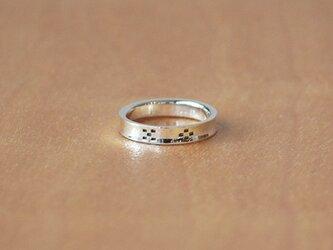 ミンサー柄逆甲丸指輪 rr-59の画像