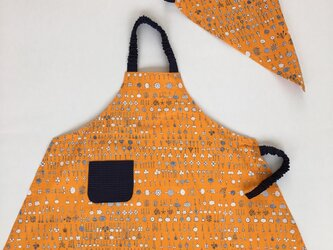 子供エプロン・三角巾セット110〜125サイズの画像