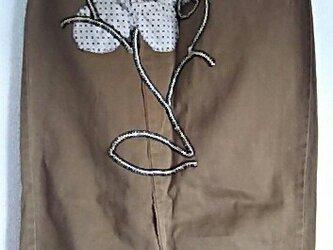 茶のお花の綿パンdeスカート もったいないあ~との画像