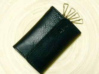 【大切なひとへのプレゼントに♪名入れできます♪】レザーキーケース〜カード収納付き〜の画像