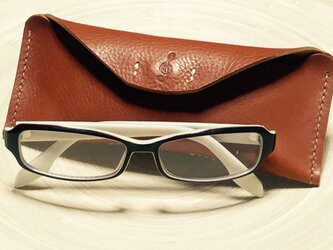 【名入れできます♪プレゼントなどに♪】レザーメガネケース/ペンケースの画像