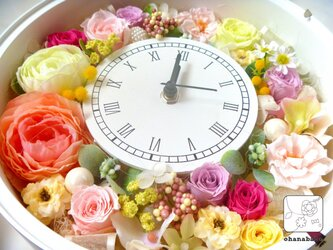 プリザーブドフラワーの春いっぱい!なお花時計ohanadokei-maruの画像