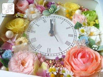 プリザーブドフラワーの春満開!なお花時計ohanadokei-kakuの画像