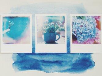 青の風景 ポラロイド風マグネットの画像