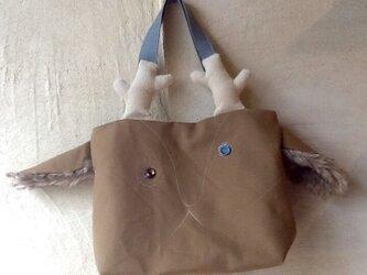 鹿顔トート(茶色い耳)の画像