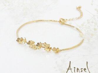 クローバー畑のブレスレット(gold)の画像