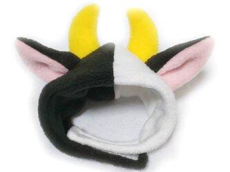 犬猫用かぶりもの 牛のかぶりもの(帽子)の画像