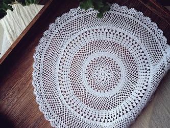 【受注製作】Crocheted doily*花(L)の画像