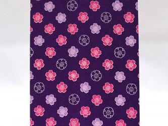 蛇腹式 御朱印帳 大判サイズ48ページ 【桜(紫&ピンク)】の画像