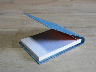ロウ引き和紙のメモケース(藍染)の画像