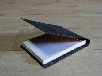 ロウ引き和紙のメモケース(黒)の画像