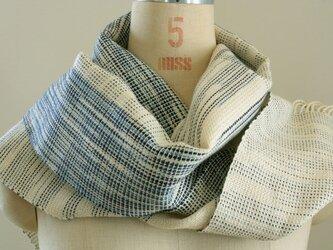 手織り 本藍染ストールの画像
