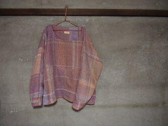 手織り/cotton sweater ▽菖蒲ト杏 (+orimi)の画像