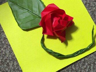 折り紙で薔薇のオーダー受け付けますの画像