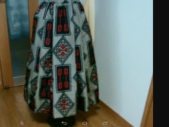 スキッとしたスカートー 裏付き ー  1点品 の画像