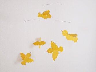小鳥のモビール(黄色)の画像