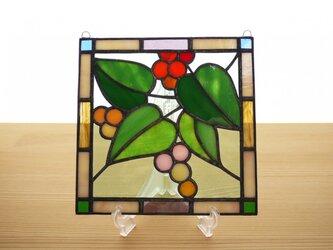 ステンドグラス ミニパネル ガーデン(b) 15cmの画像