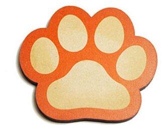 肉球型コースター 型抜Aタイプ オレンジの画像