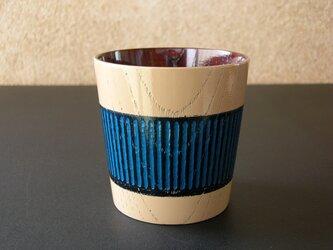 フリーカップ/アイボリー&ブルー・3WAY2トーンの画像