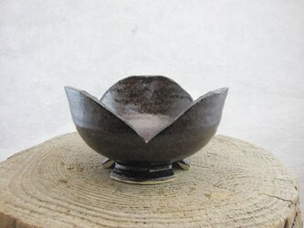 陶器 割山椒小鉢(呉須いらぼ釉)の画像