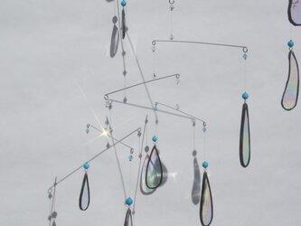 ステンドグラスモビール 「あっ!雨っ!!。」の画像