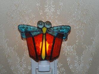 ステンドグラスナイトライト「トンボ」の画像