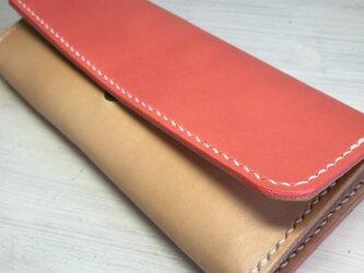 【春色桜色♫】収納力バツグンな三つ折り財布の画像