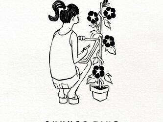 『アサガオ観察/女子』tシャツ / メンズ レディース 大人サイズ ペアありますの画像