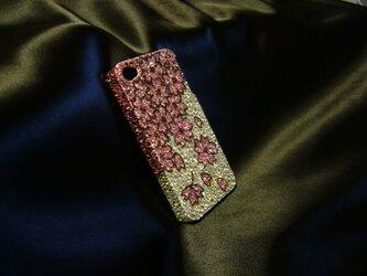 iPhone4  桜・春爛漫 スワロフスキービーズの画像
