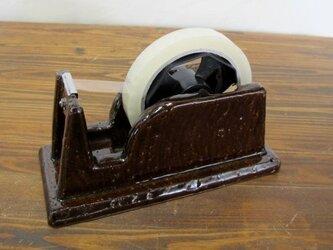 陶器製 テープディスペンサー(飴釉)の画像