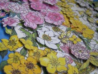 メッセージボード 【春花束】 さくら&バラ&山吹&白木蓮&アネモネ&花菜の画像