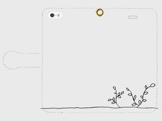 【送料無料】iPhoneSE 手帳型スマホケース 芽吹きの画像