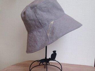 オーダー グランジリネンマニッシュな帽子の画像