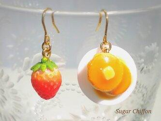 【送料無料】苺とホットケーキのピアス♡の画像