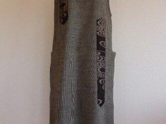 古布 Aライン紬ワンピース(裏なし)の画像