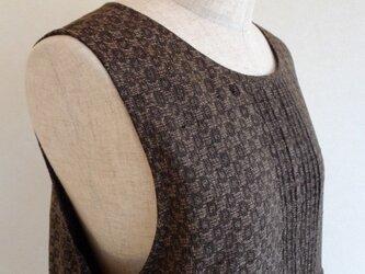 古布 大島紬ジャンパースカート スヌード付き(総裏付き)の画像
