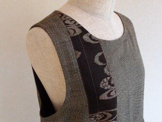 古布 紬ジャンパースカート つけ襟付き (総裏付き)の画像