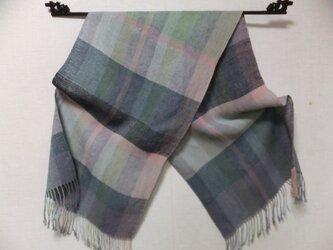 手織りリネンストール #2の画像