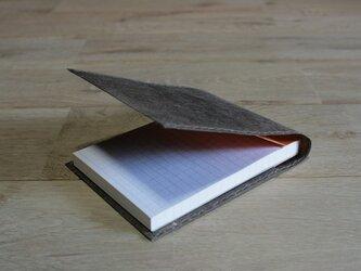 ロウ引き和紙のメモケース(焦茶)の画像
